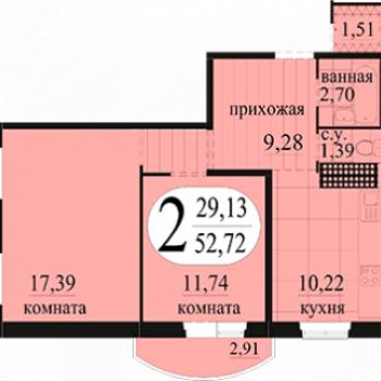 ЖК Новоантипинский (Тюмень) – планировка №4