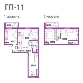 ЖК Звездный городок (Тюмень) – планировка №3