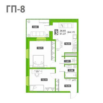 ЖК Звездный городок (Тюмень) – планировка №6