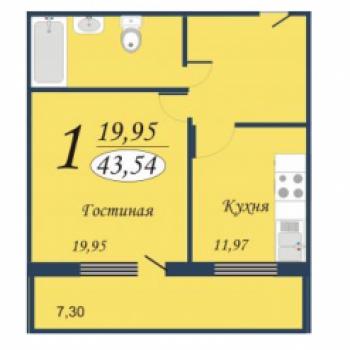 ЖК Квартет (Тюмень) – планировка №5