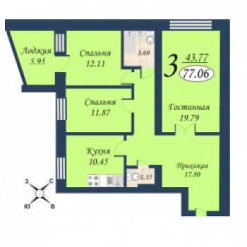 ЖК Квартет (Тюмень) – планировка №2