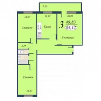 ЖК Квартет (Тюмень) – планировка №1