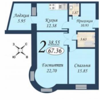 ЖК Квартет (Тюмень) – планировка №4