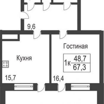 ЖК Славутич (Тюмень) – планировка №4