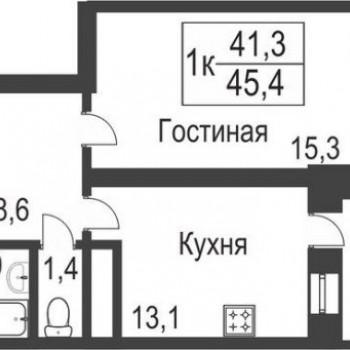 ЖК Славутич (Тюмень) – планировка №1