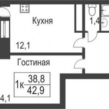 ЖК Славутич (Тюмень) – планировка №2