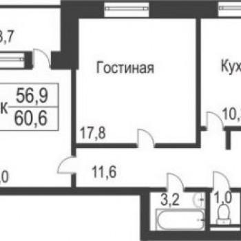 ЖК Славутич (Тюмень) – планировка №5
