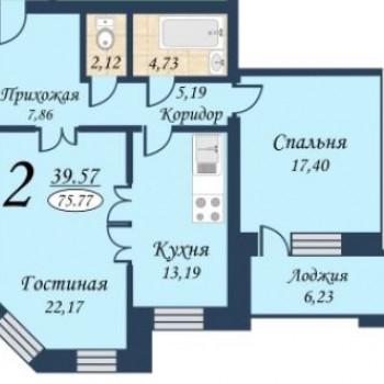 ЖК На Герцена (Тюмень) – планировка №1