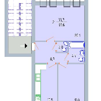 ЖК по ул. Р.Люксембург (Тверь) – планировка №2