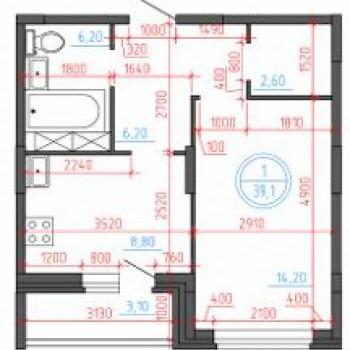 ЖК Иллидиум 2 (Тверь) – планировка №4