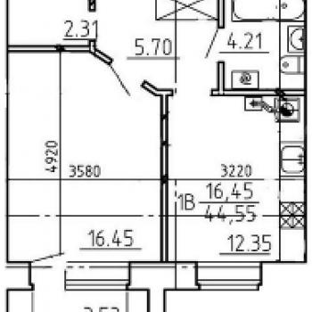 Жилой дом на Кольцевой (Тверь) – планировка №3