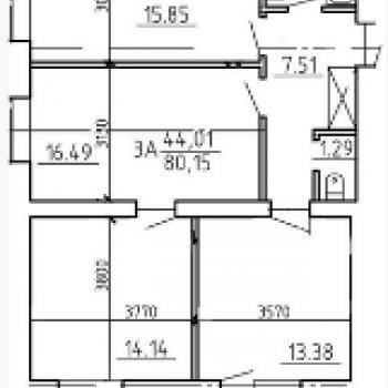 Жилой дом на Кольцевой (Тверь) – планировка №1