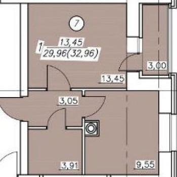 Жилой дом 2-я Металлистов (Тверь) – планировка №1