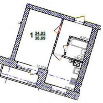 ЖК Солнечный (Тверь) – планировка №6