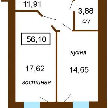 Жилой дом На Московской (Тверь) – планировка №6