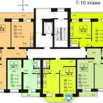 Жилой дом На Московской (Тверь) – планировка №1