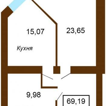 Жилой дом На Московской (Тверь) – планировка №3