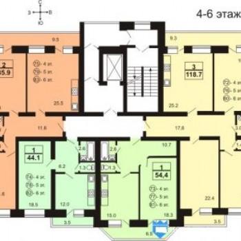 Жилой дом На Московской (Тверь) – планировка №2