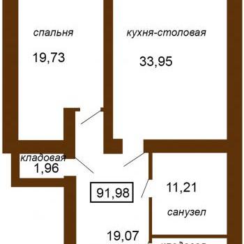 Жилой дом На Московской (Тверь) – планировка №7