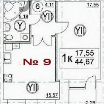 ЖК на Пожарной площади (Тверь) – планировка №1