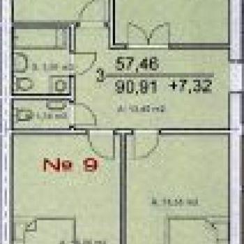 ЖК на Пожарной площади (Тверь) – планировка №3
