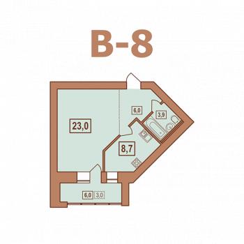 ЖК Европейский (Тверь) – планировка №3