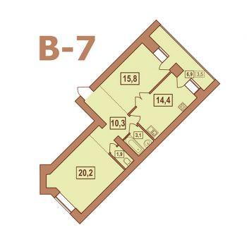 ЖК Европейский (Тверь) – планировка №14