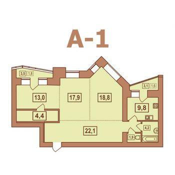ЖК Европейский (Тверь) – планировка №13
