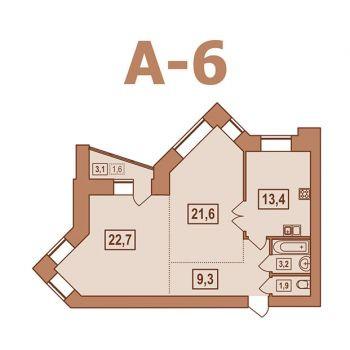 ЖК Европейский (Тверь) – планировка №5