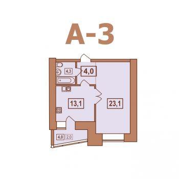 ЖК Европейский (Тверь) – планировка №9