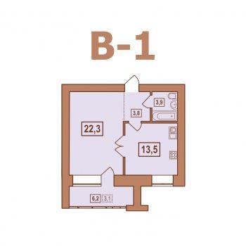 ЖК Европейский (Тверь) – планировка №17