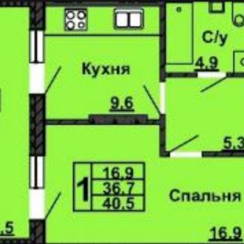 ЖК Нестеровский (Уфа) – планировка №4