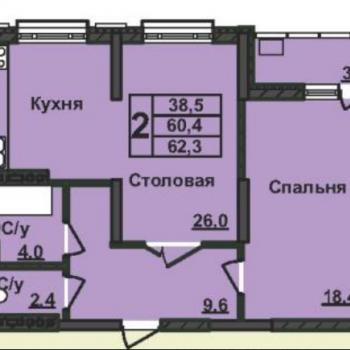 ЖК Нестеровский (Уфа) – планировка №3