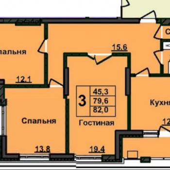 ЖК Нестеровский (Уфа) – планировка №2