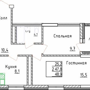 ЖК Менделеев сити (Уфа) – планировка №3