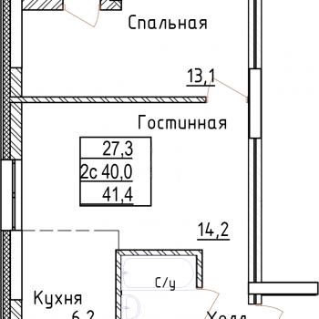 ЖК Менделеев сити (Уфа) – планировка №1
