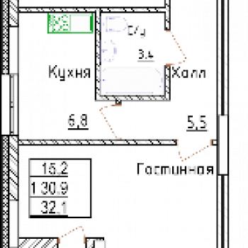 ЖК Менделеев сити (Уфа) – планировка №4