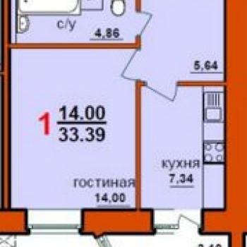 ЖК по ул. Интернациональная (Уфа) – планировка №2