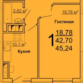 ЖК Лидер (Ульяновск) – планировка №3