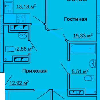 ЖК Лидер (Ульяновск) – планировка №1