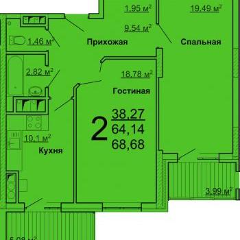 ЖК Лидер (Ульяновск) – планировка №2