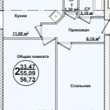 ЖК Квартал Сити (Ульяновск) – планировка №3