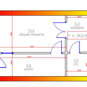 ЖК Новый город (Владикавказ) – планировка №3