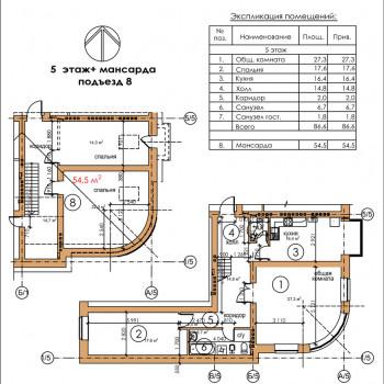 ЖК Московский квартал (Владикавказ) – планировка №6
