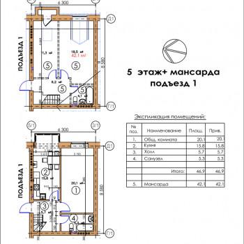 ЖК Московский квартал (Владикавказ) – планировка №4