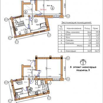 ЖК Московский квартал (Владикавказ) – планировка №3