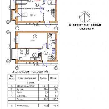 ЖК Московский квартал (Владикавказ) – планировка №1