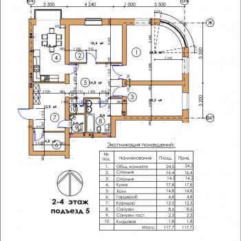 ЖК Московский квартал (Владикавказ) – планировка №12