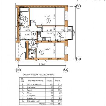 ЖК Московский квартал (Владикавказ) – планировка №7