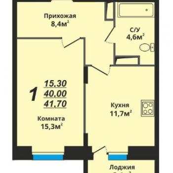 ЖК Факел (Владимир) – планировка №2